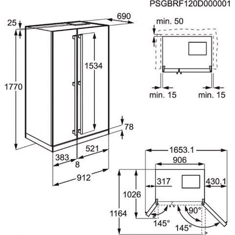 многокамерный холодильник типа Side By Side Electrolux Eal 6142 Box